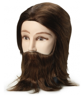 Bravehead Mannequin Head Brunette Man with Beard