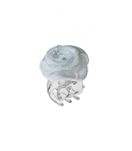 Hair Clip with Rose small